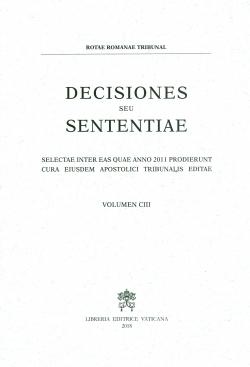 DECISIONES SEU SENTENTIAE VOL. 103