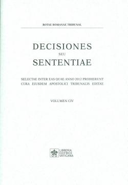 DECISIONES SEU SENTENTIAE. VOLUMEN 104