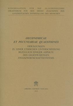 OECONOMICAE ET PECUNIARIAE QUAESTIONES (DEUTSCHE)