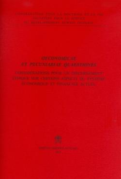 OECONOMICAE ET PECUNIARIAE QUAESTIONES (FRANCAIS)